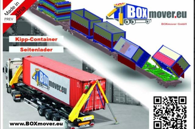 BOXmover - sideloader & tipping 20ft Container